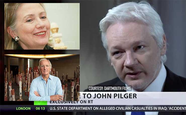 clinton-pilger-assange