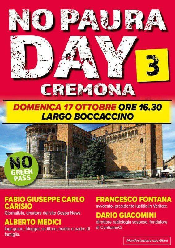 No Paura Day di Cremona domenica 17